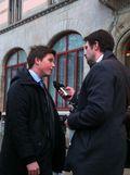 Torsdagsaktionen 31 januari 2013, Erik Ullenhag intervjuas av NHRs Håkan Sjunnesson